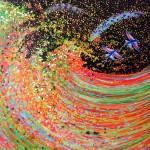 Kunst maleri Wave