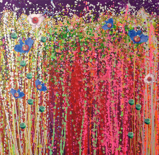 painting colorful flowers maleri farverig blomster natur nature