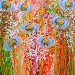 akryl maleri med natur 3stort