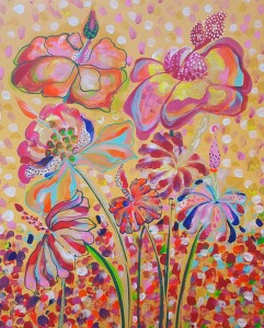 akryl maleri med natur 5stort