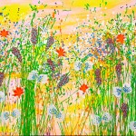 akryl maleri med natur 7stort