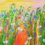akryl maleri med natur s6tort