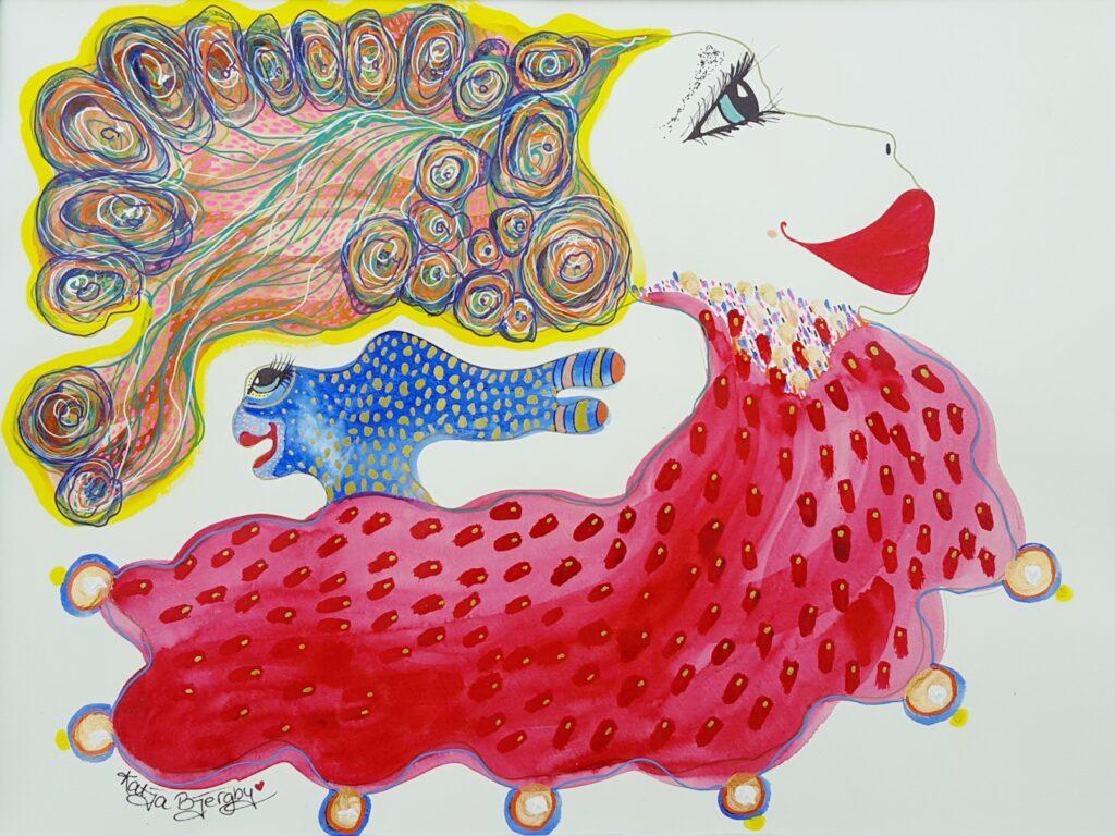 acrylic painting colorful joy