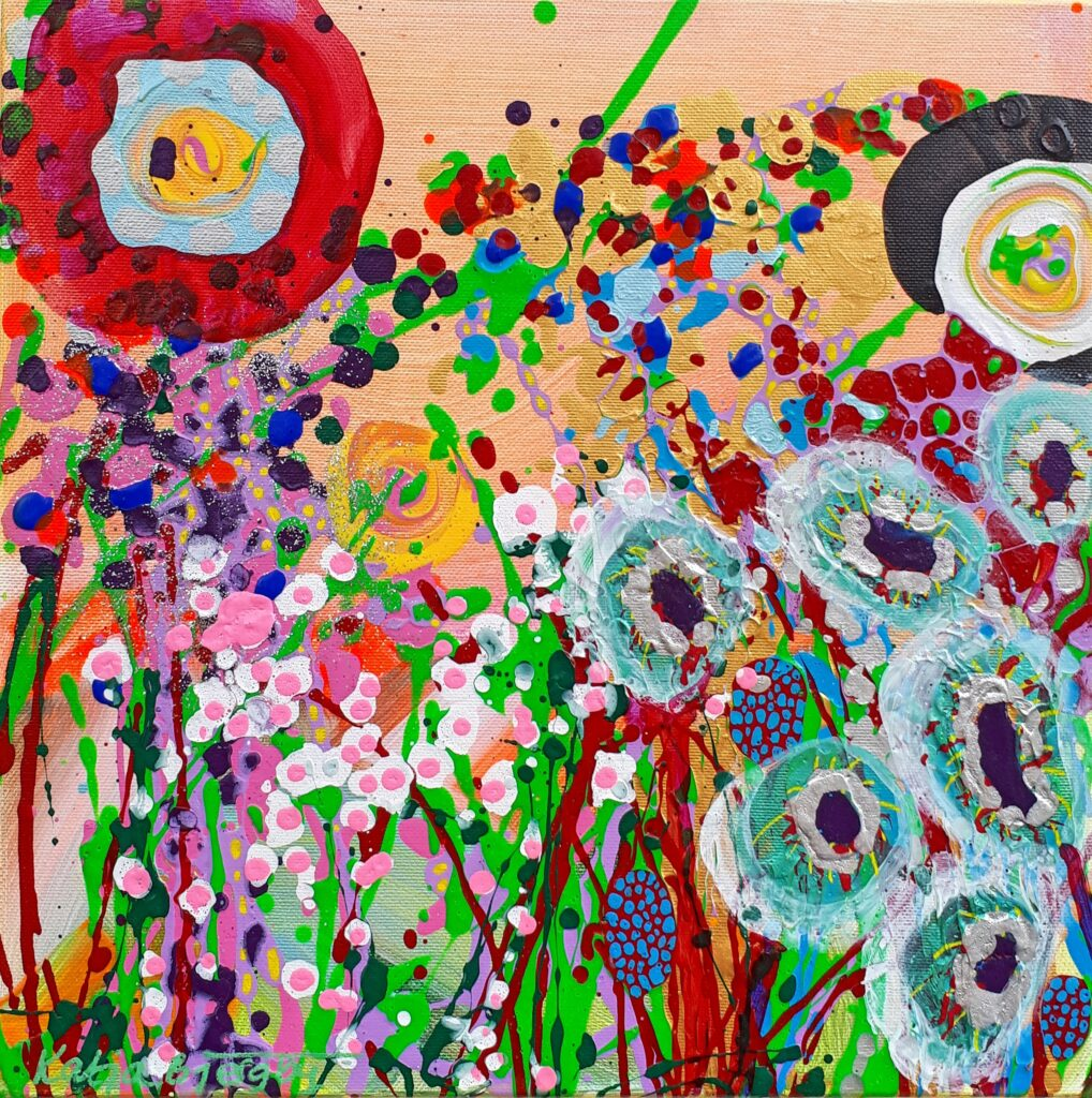 abstract art painting colorful flowers maleri farverig blomster natur nature