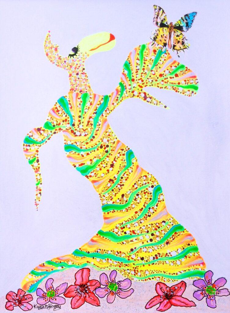 maleri painting colorful farverig fantasi fantasy joy glæde