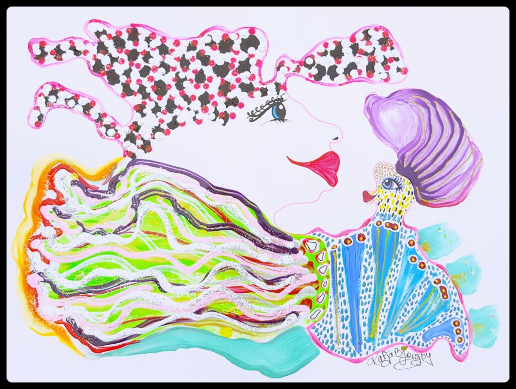 maleri painting fantasi fantasy colorful farverig kunst art