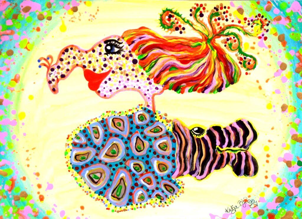 maleri painting colorful farverig fantasi fantasy